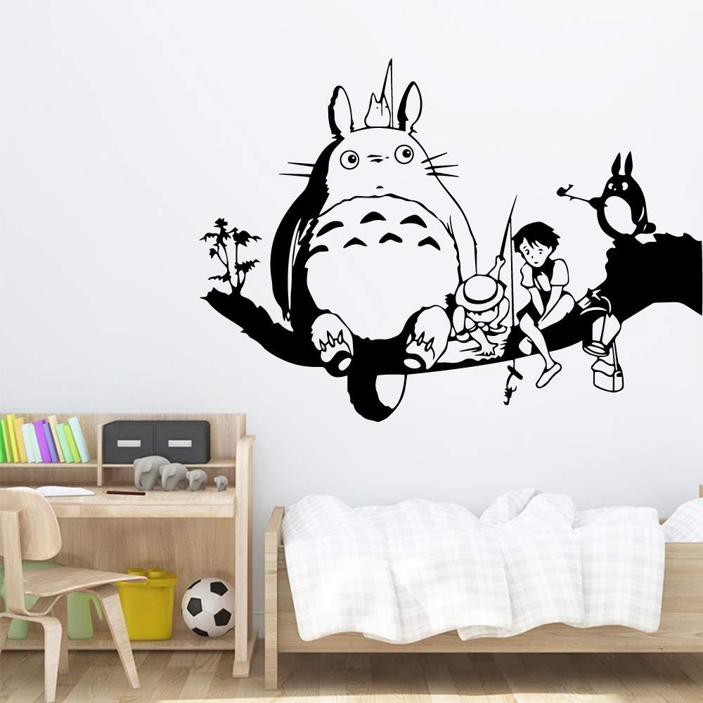 Coloridos dibujos animados de Totoro Arte de la pared Etiqueta ...