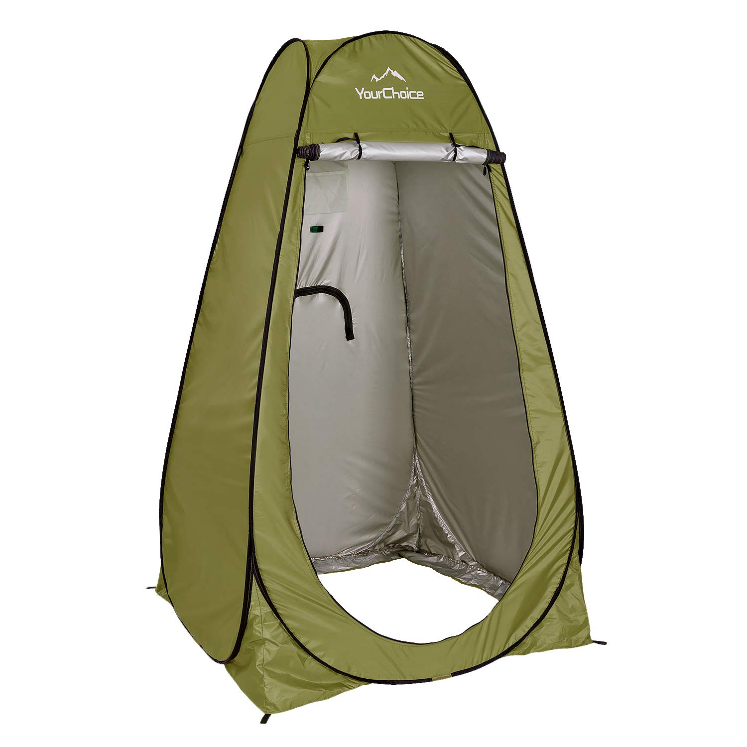 Your Choice Pop Up Camping Shower Tent, Portable Changing Room Camp Shower Toilet Privacy shelter Tents for Outdoor and Indoor, 6.2FT Tall - Color Green by Your Choice