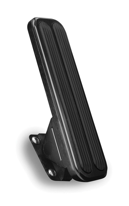 Lokar XFMG-6098 Black Floor Mounted Gas Pedal with Rubber