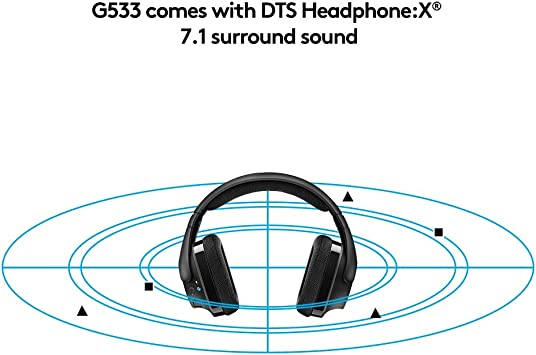 Logitech G533 - Auriculares Gaming Inalámbricos, 7.1 Surround DTS ...