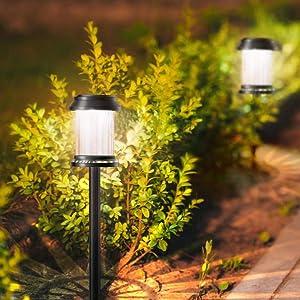 kewen 6 Pack Solar Pathway Lights,Waterproof auto on & Off LED Solar Lights Outdoor,8 Hours Long Last Solar Powered Warm Light for Garden, Landscape, Path, Yard,Walkway,Sidewalk,Decorative