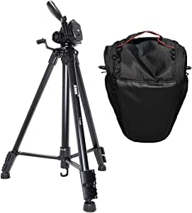 DMK Power T590 Tripod and BT-21 Camera Bag for Nikon and Canon Cameras