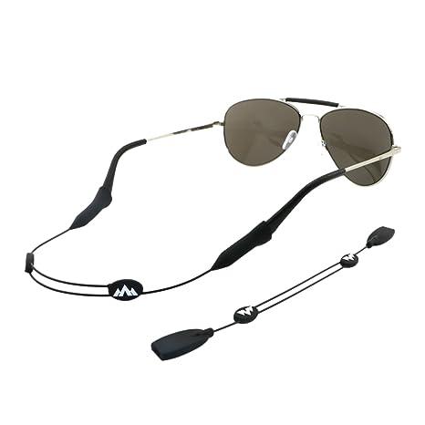 Philonext Gafas de retención, Universal Fit cuerda Gafas de retención, ajustable unisex de los deportes de gafas de sol Soporte para la correa de ...