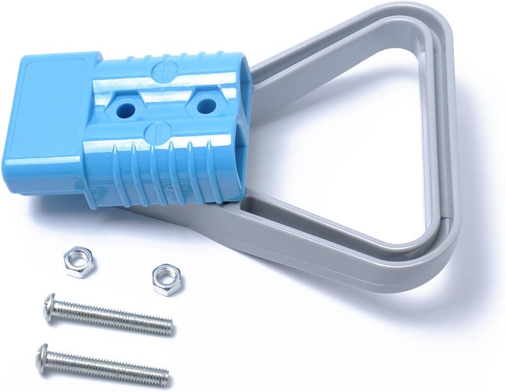 Blau WINOMO Universal 600 V 175A Batterie Verbinden Schnellkupplung Stecker F/ür Gabelstapler Winde Anh/änger Fahrer Elektrische Ger/äte