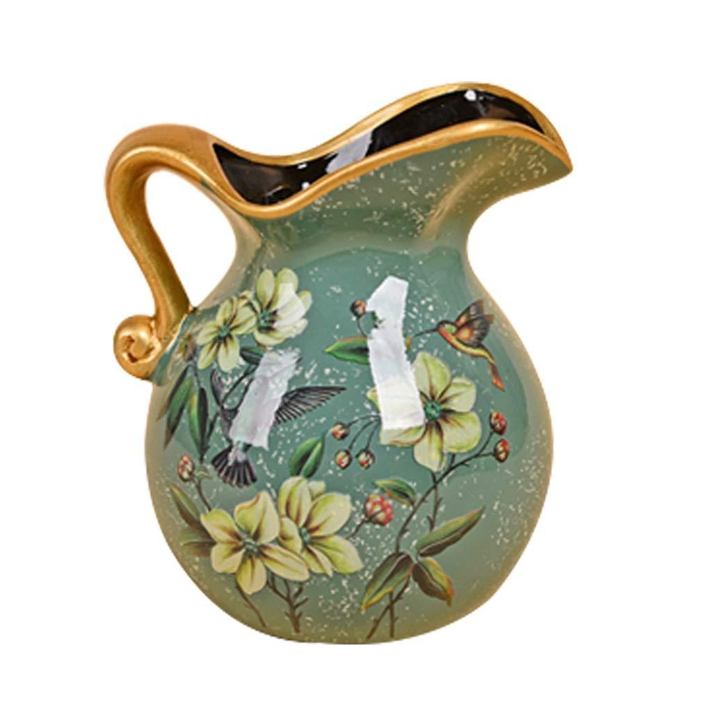 LIULIJUN ヨーロッパの牧歌的なセラミック小さな花瓶アメリカンスタイルのリビングルームの装飾花セットフラワーアレンジャー B07T45P3T6