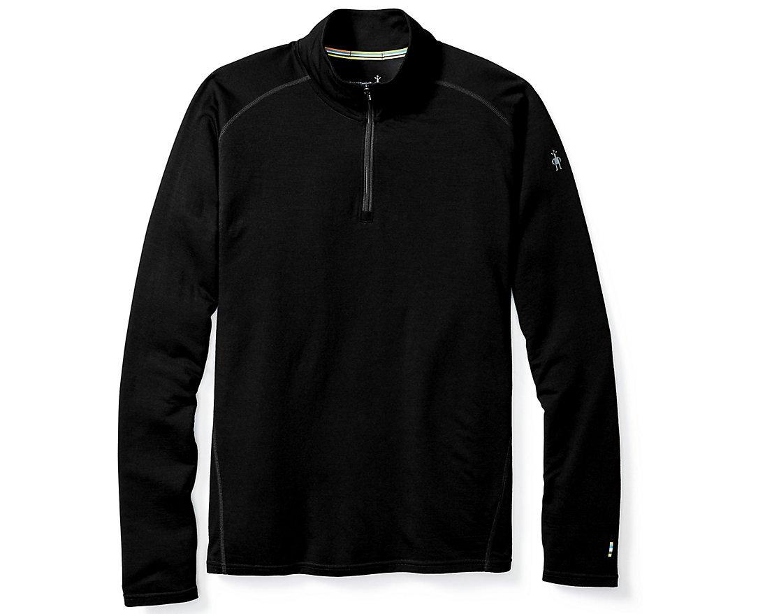 SmartWool Men's Merino 150 Baselayer 1/4 Zip (Black) Small