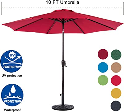 Sundale-Outdoor-10-Feet-Outdoor-Aluminum-Patio-Umbrella-Reviews