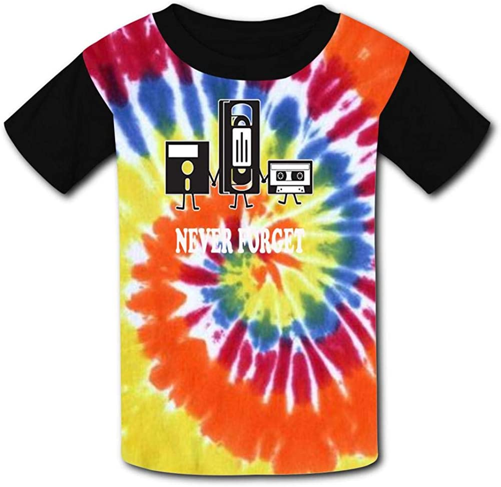 Never Forget Music Novelty Funny Child Short Sleeve Fashion T-Shirt of Boys and Girls