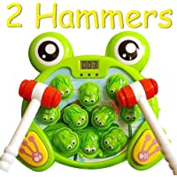 Whack A Frog Game with 2 Hammers, Fun, Learning, Toddler Toys, Boys, Girls, FS
