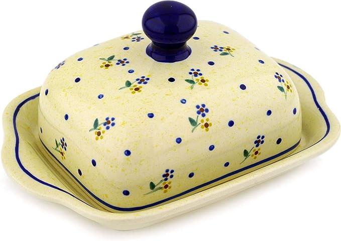 blau//weiß Herzen für 250g Butter M137-DSS Bunzlauer Keramik Butterdose groß