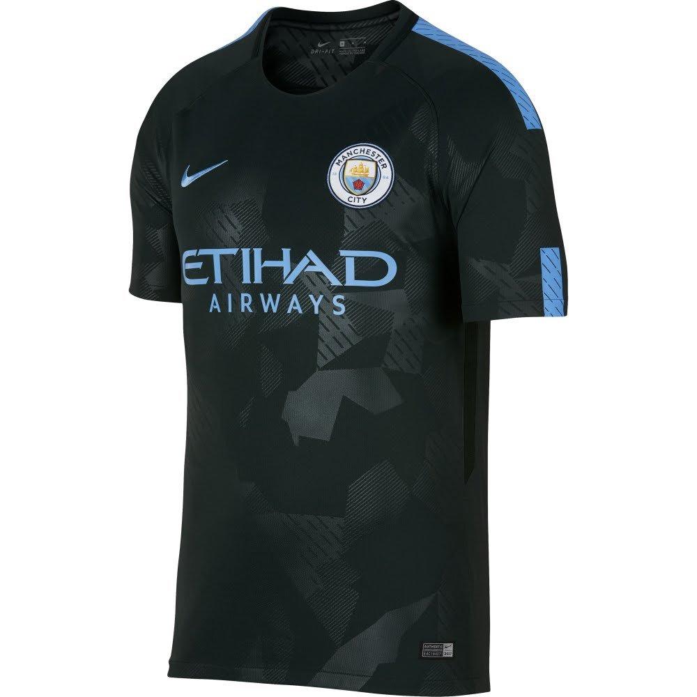 Nike 2017-2018 Man City Third Football Soccer T-Shirt Trikot (Kids)