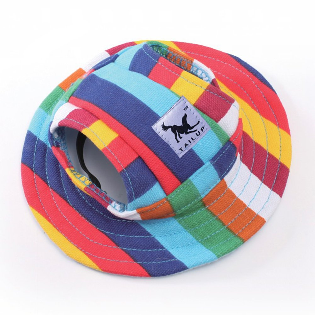 B Medium B Medium Pet Dog Hat Outdoor Sunbonnet Adjustable Mesh Sun Cap Hat for Small Dogs