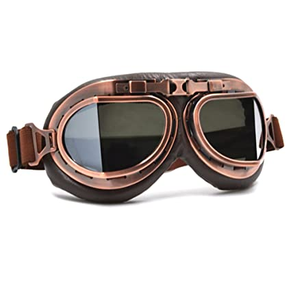 d6be04016d Amazon.com  Vintage Aviator Motorcycle Goggles