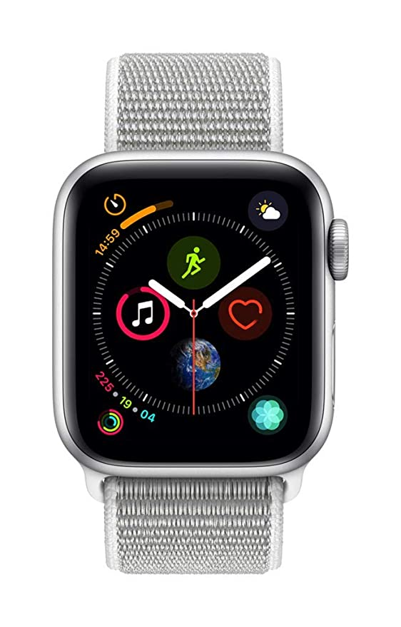 Apple Watch Series 4 (GPS + Cellular) con caja de 40 mm de aluminio en plata y correa Loop deportiva en color nácar: Amazon.es