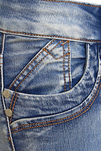 Bootcut 6 Sizes Women's to 16 Kiss Stonewash SS7 Blue Blue Jeans Stonewash cSafwRcBq1