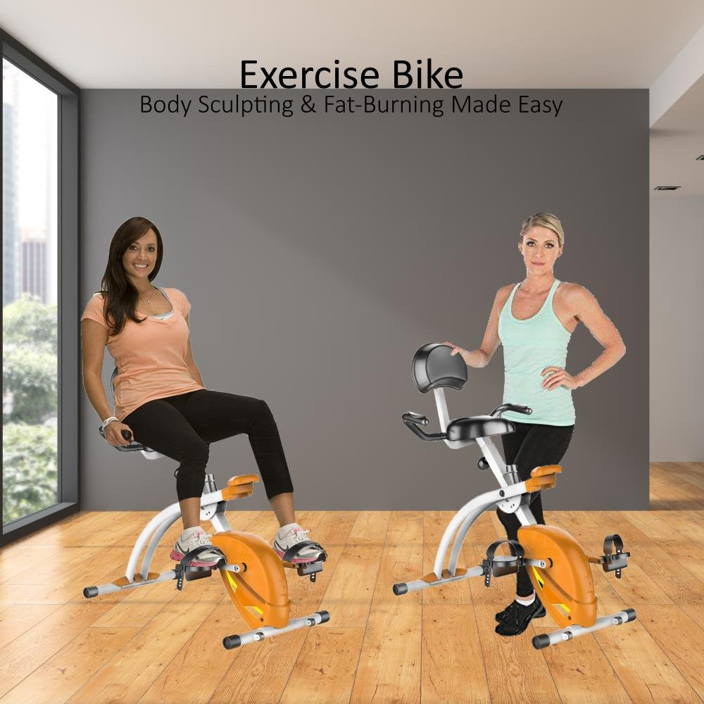 SereneLife Exercise Bike - Recumbent Stationary Bicycle Pedal Cycling Trainer Fitness Machine Equipment for Under Desk Workout, Weight Loss, Fitness & Health at Home & Office(SLXB1) by SereneLife (Image #7)