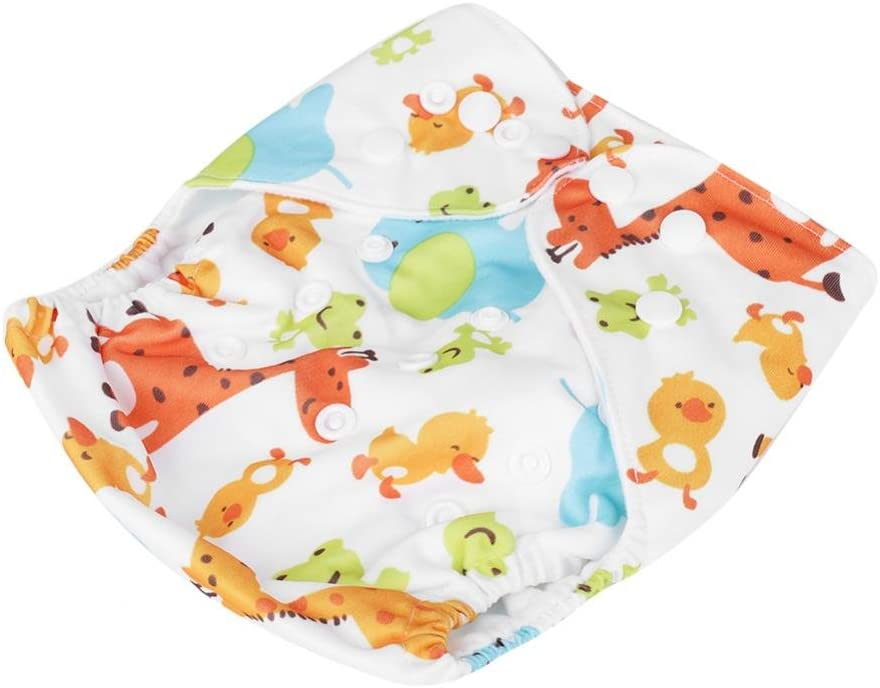 #2 Waterproof Baby Cloth Diapers Adjustable Washable Reusable Pocket Diapers Super Soft Underwear Pants Birthday Baby Shower Gift for Infant Toddler