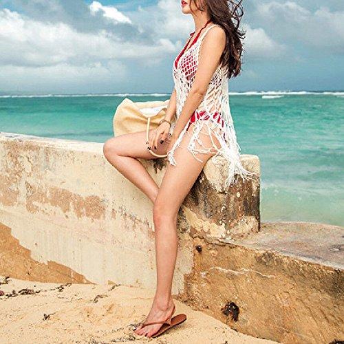 Da Occultamento Costume Dalla Spiaggia Del Ragazza Bagno Donne Bianco Bianco M All'uncinetto Del Da Nappa Bikini L Pizzi Bagno Costume Di ZnAn87q6
