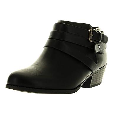 Soda Alum Womens Stylish Buckle Strap Dress Ankle Bootie | Shoes