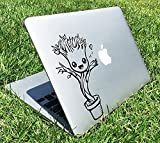 Cute Groot Dancing Guardians of the Galaxy Marvel Superheroes Music Note Heart Apple Macbook Decal Vinyl Sticker Apple Mac Air Pro Retina Laptop sticker