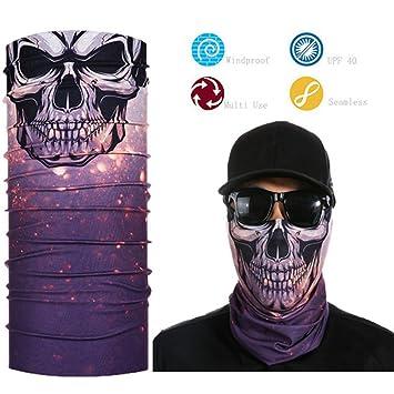 Gorra de calavera 3D, bufanda mágica, máscara, bandana, cuello ...