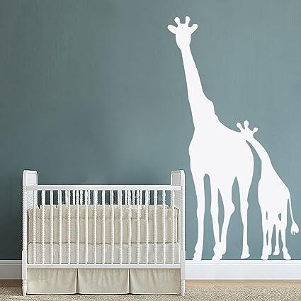 BATTOO Giraffe Wall Decal   Vinyl Mom And Baby Giraffe Wall Stickers    Oversized Large Giraffe