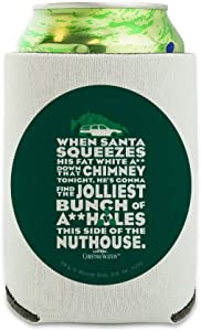 National Lampoon's Christmas Vacation Jolliest Bunch Can Cooler - Drink Sleeve Hugger Collapsible Insulator - Beverage Insulated Holder