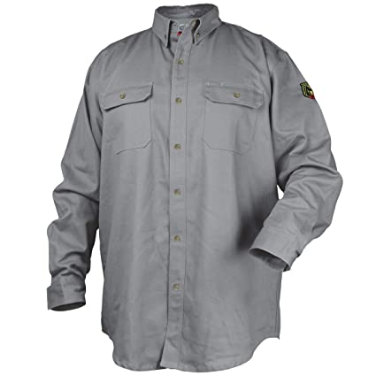 2b892b27457 REVCO BLACK STALLION FR FLAME RESISTANT COTTON WORK SHIRT - FS7-KHK LARGE -  Protective Work And Lab Clothing - Amazon.com