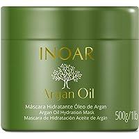 Máscara Capilar Argan Oil Tratamento Intensivo Hidratante 500 G, INOAR, Incolor