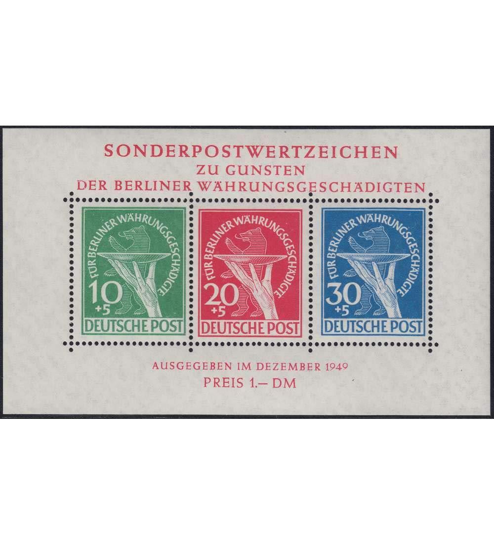 Goldhahn Berlin Block 1 III postfrisch  geprüft und signiert Schlegel Plattenfehler Briefmarken für Sammler