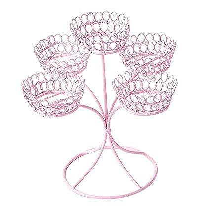 P Prettyia 1 Pieza Soporte de Exhibición de Cupcakes Cubertería de Restaurantes Hotels - Rosado