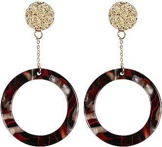 Amazon.com: kolo FINE Women Earrings Luxury Colorful Round
