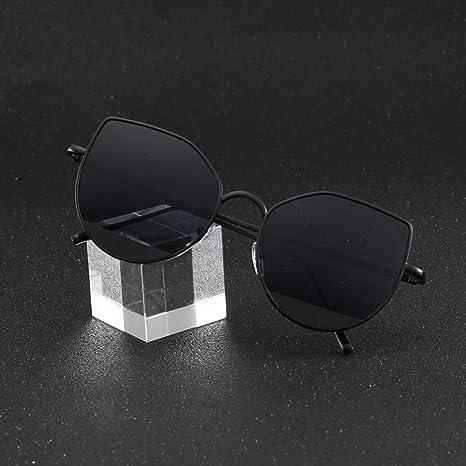 ☛ Des lunettes Solike Femmes Rond Lunettes de Soleil Mode Lunettes de Plage  Chic Cadre en Acétate Protection UV400 Voyage Lunettes de Plein Air (A)  ... 548a8c4dbb47