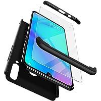 Funda Huawei P30 Lite + Huawei P30 Lite Protector de pantalla , ivencase Híbrido Premium Resistente 3 en 1 Caso Protectora Dura Antiarañazos Para PC y Parachoques Resistente a los Arañazos para Huawei P30 Lite Negro