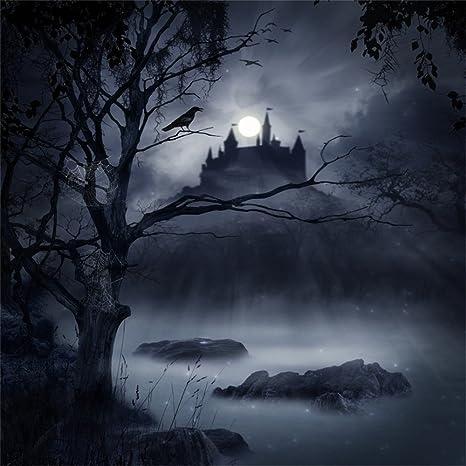 Amazon Com Laeacco Halloween Theme Backdrop 8x8ft Vinyl