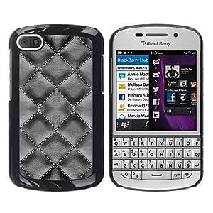 Smartphone Rígido Protección única Imagen Carcasa Funda Tapa Skin Case Para BlackBerry Q10 Pattern Design Interior Coffee Color Wallpaper / STRONG
