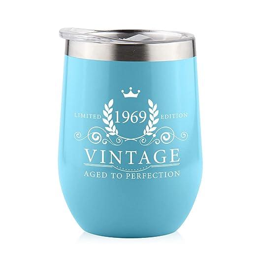 Vaso de vino de acero inoxidable para el 40 cumpleaños de ...