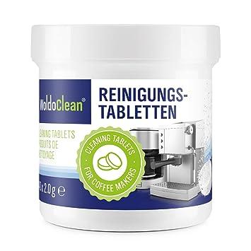 Pastillas para la limpieza de cafeteras automáticas - 40x tabletas limpiadoras compatible con marcas, Delonghi, Dolce Gusto, Nespresso, Seaco, Krups, ...