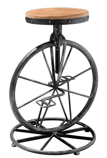 The Attic Cycle Bar Stool (Black)