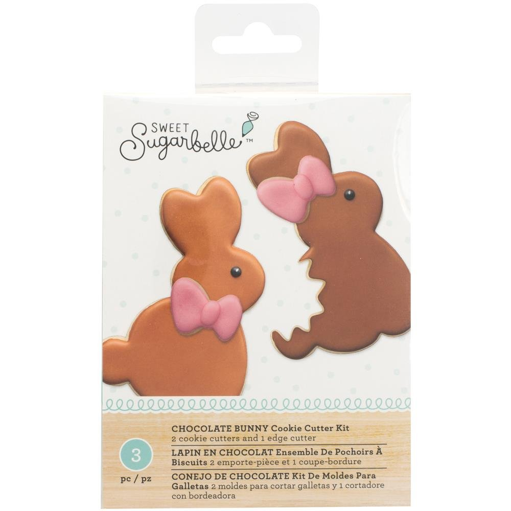 Amazon.com: Sweet Sugarbelle - Easter Shape Shifter Sets - Chocolate Bunny, Multi-Cookie Egg and Bunny & Basket - Cookie Cutters, Templates and Instruction ...