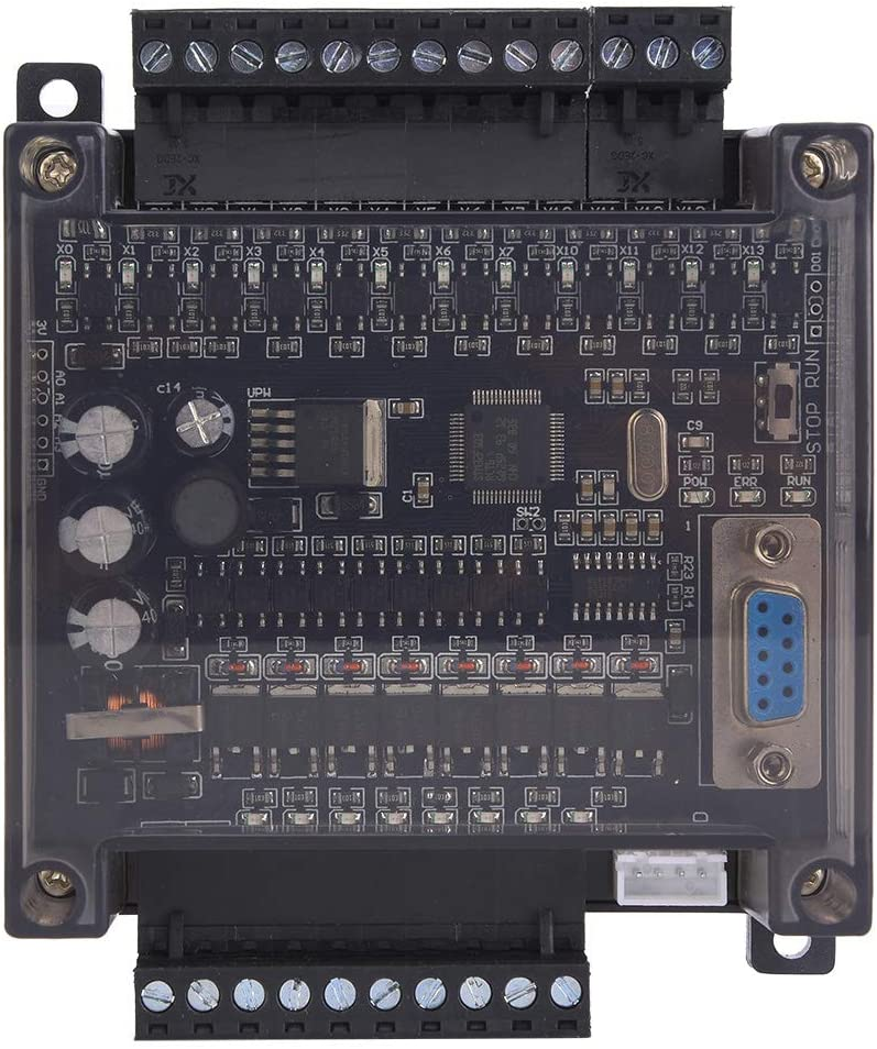 ROSEBEAR FX1N 20MT PLC Board Programmable Controller Module PLC Controller Industrial Control Board with Brown Shell
