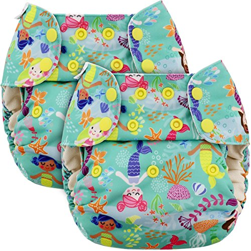 blueberry-one-size-simplex-all-in-one-cloth-diapers-bundle-of-2-usa-made-mermaids