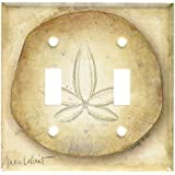 Art Plates - Sand Dollar Switch Plate - Double Toggle