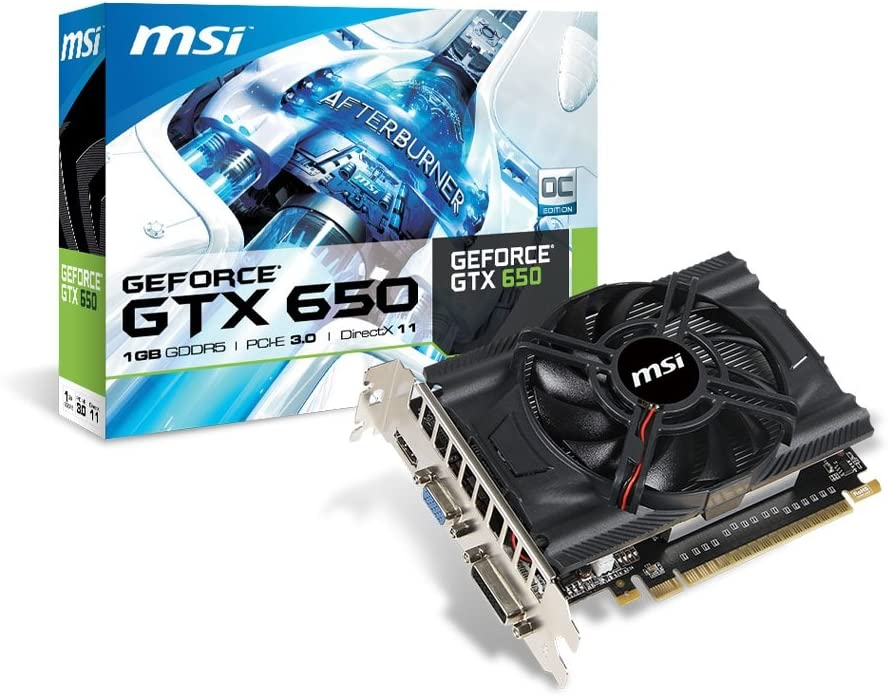 MSI NVIDIA GeForce GTX 650 1GB GDDR5 PCI Express 3.0 Graphics Card N650-MD1GD5/OC