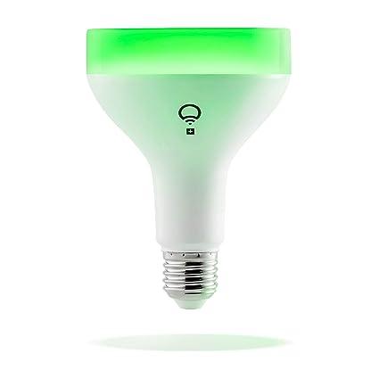 LIFX + (A19) Wi-Fi Smart bombilla LED con infrarrojos para visión nocturna