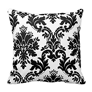 Amazon Black And White Floral Pattern Throw Pillow Case Covers