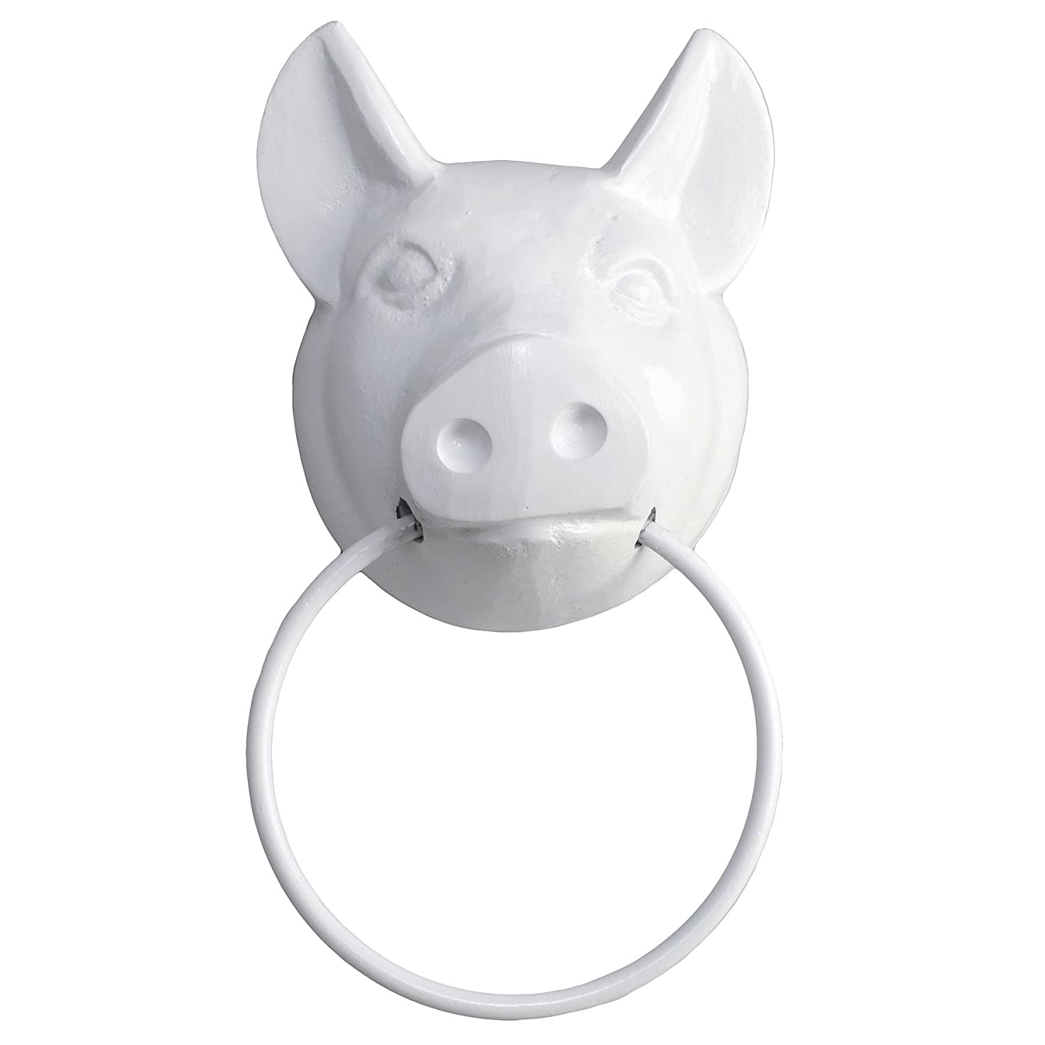 (White Gloss) Studio Vertu Cast Iron Pig Towel Ring, White Gloss B00L9BEJQA ホワイトグロス ホワイトグロス