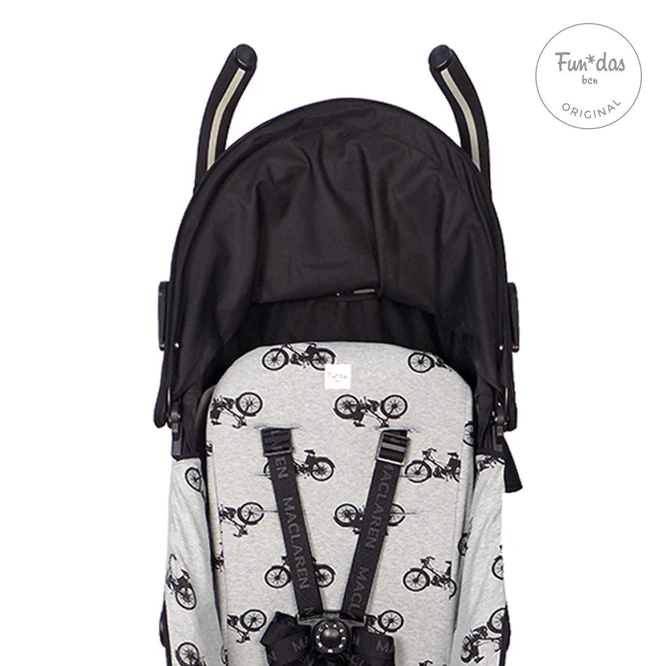 Colchoneta para silla de paseo Maclaren Quest /® 2013-17 Fundas BCN /® Black Bikes F95//93e99b