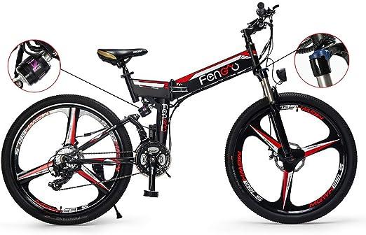 PXQ Bicicleta de montaña eléctrica Adulta 48V 250W batería de ...
