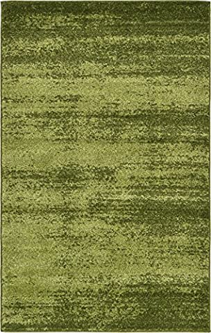 Over-dyed Modern Vintage Rugs Green 3' 3 x 5' 3 FT Palma Collection Area Rug - Perfect for any (Blue And Green Bedroom Rugs)